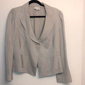 Armani Collezioni Silver/Gray Stripe Blazer